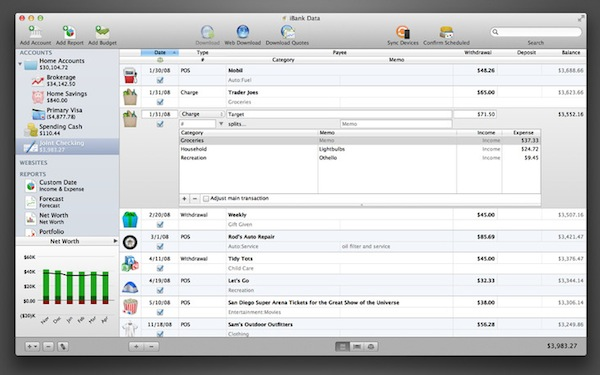 iBank for Mac and iPad