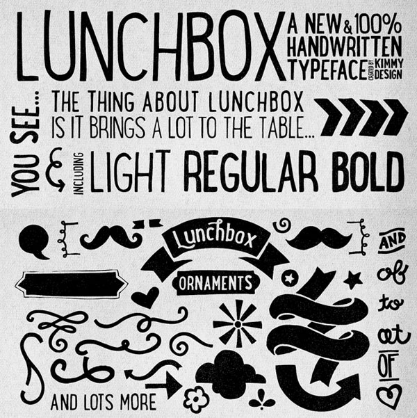Featured Sponsor: Lunchbox Typeface at MightyDeals
