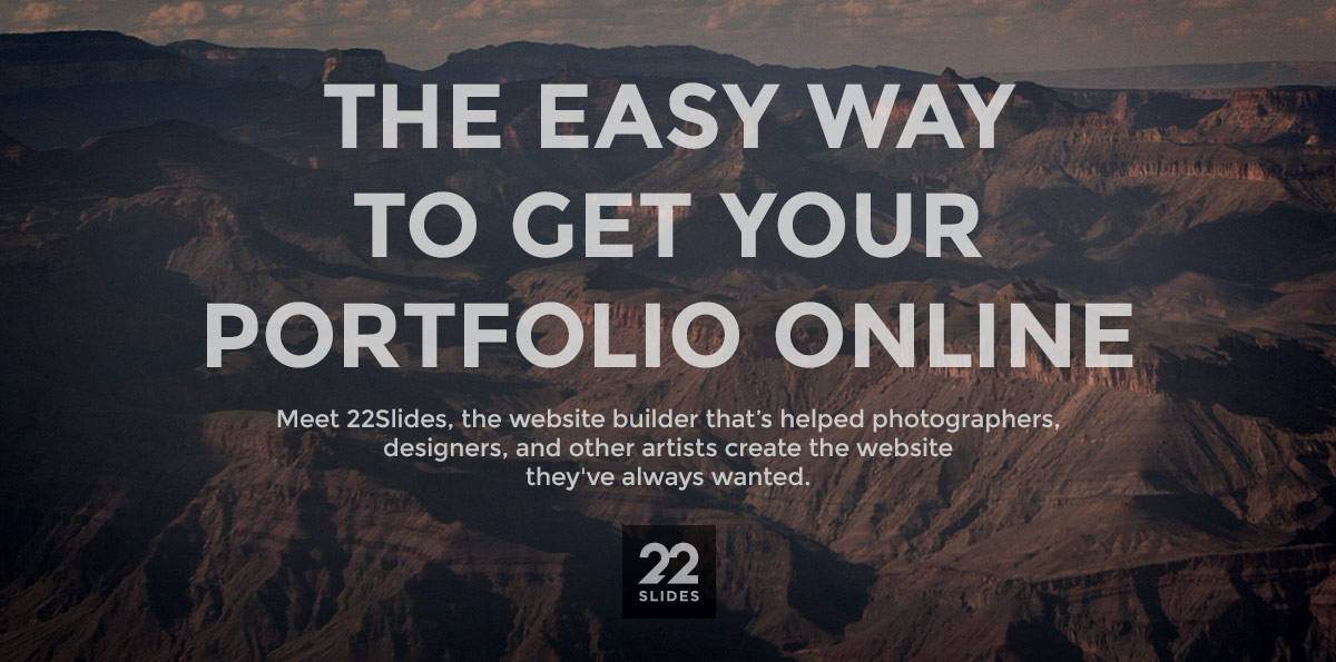 Featured Sponsor: 22Slides, a Simple Portfolio Website Builder