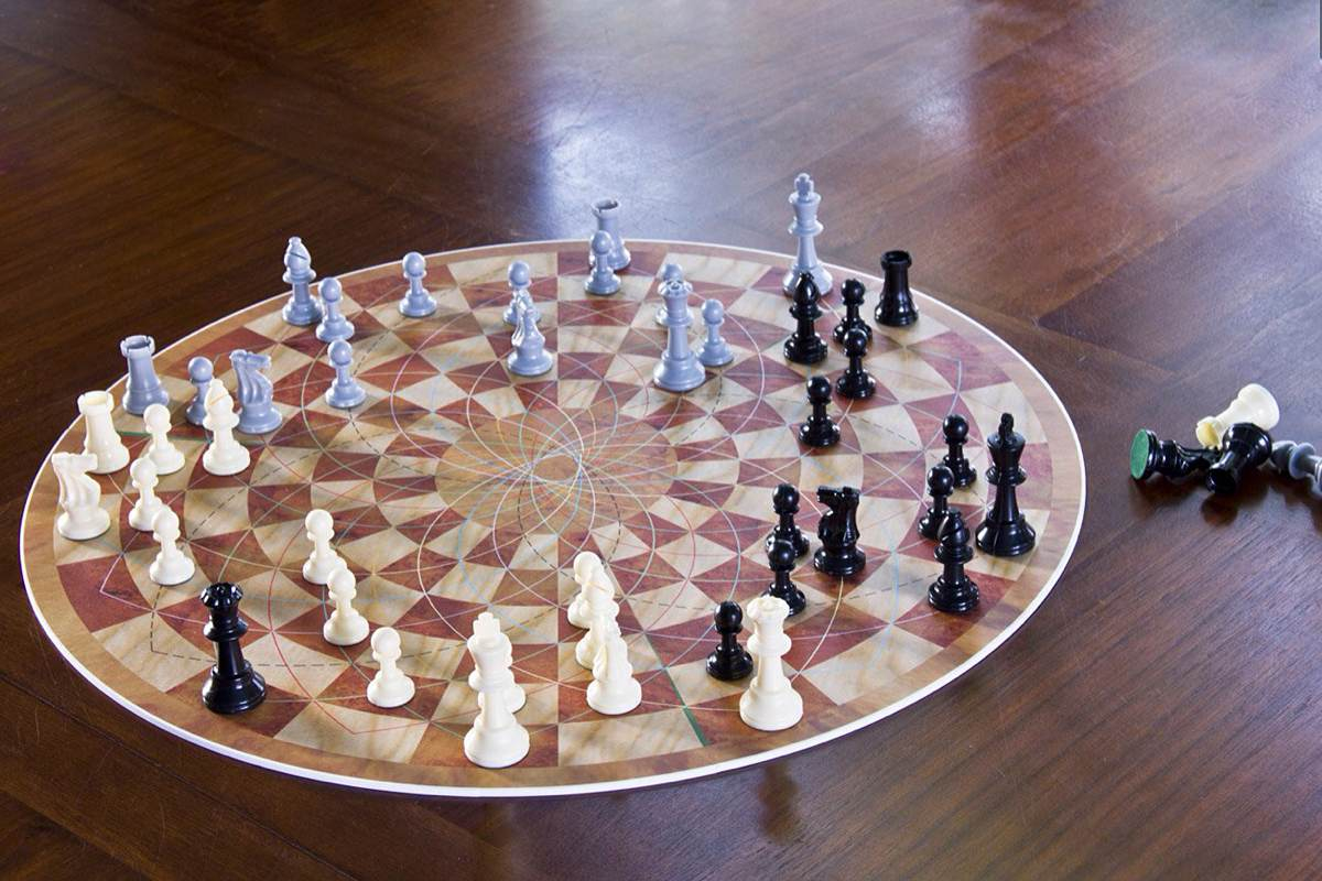 3-Man Chess Set