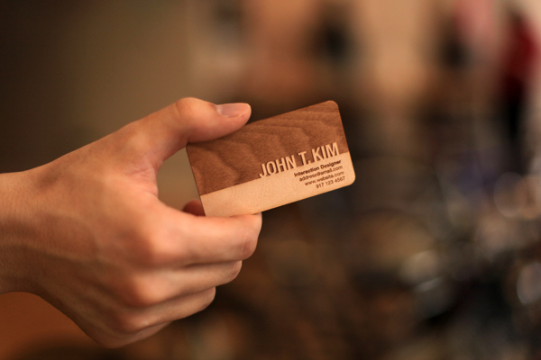 Engraved – Wooden Business Cards