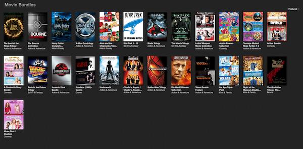 iTunes Movie Bundles