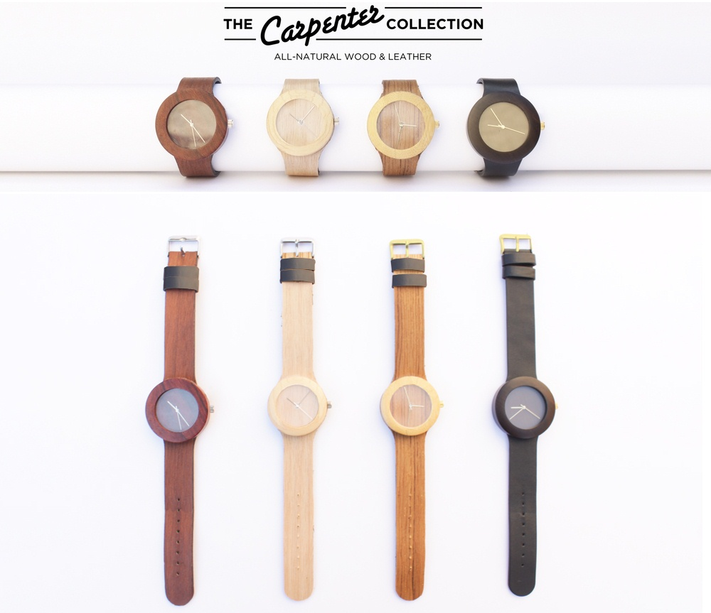 Analog Watch Co.'s 'Carpenter Collection — Wood Watches
