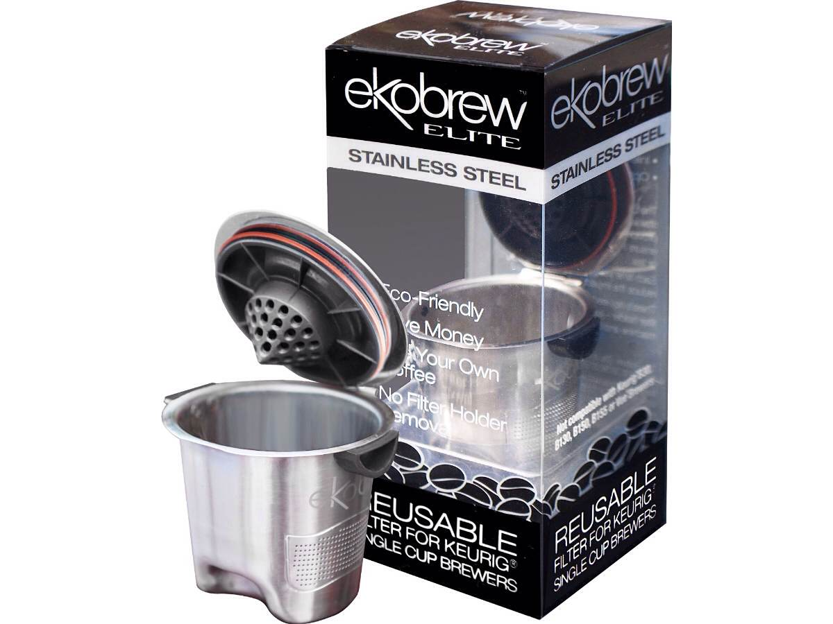 Ekobrew Stainless Steel Elite — Refillable K-Cup for Keurig Coffee Brewers
