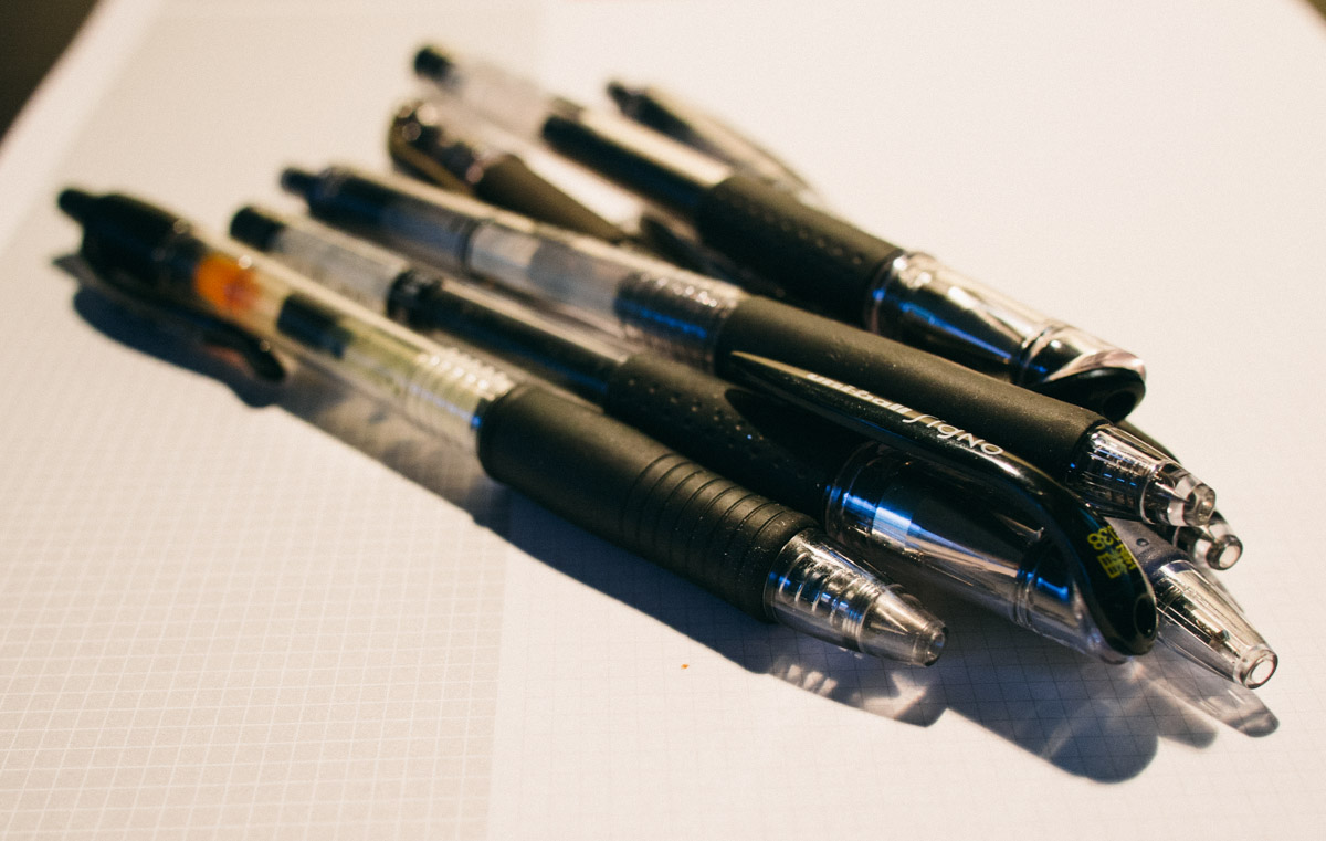 Fine-Tip Gel Ink Pens