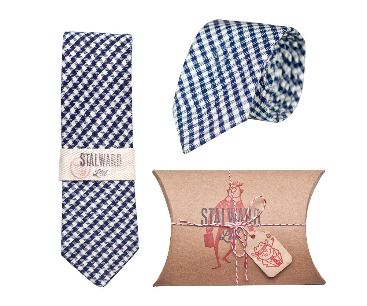Stalward Ltd.'s Heavy Navy Gingham Tie