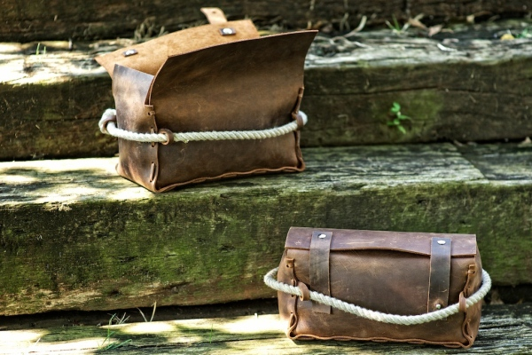 HF Triple — Leather Dopp Kit