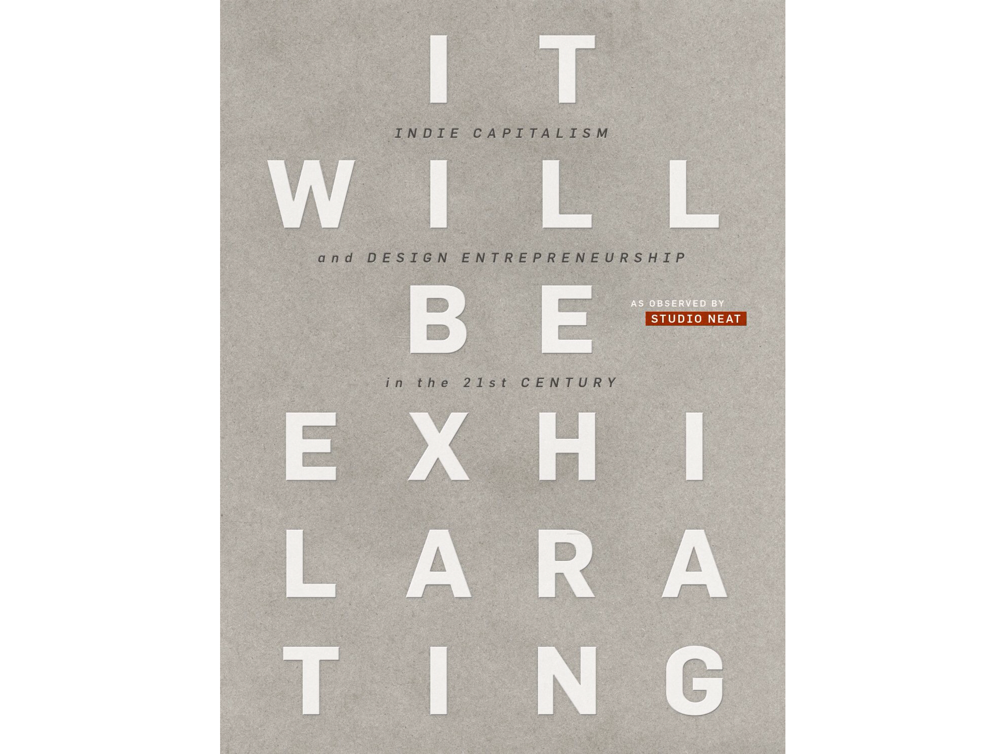 'It Will Be Exhilarating' by Dan Provost & Tom Gerhardt