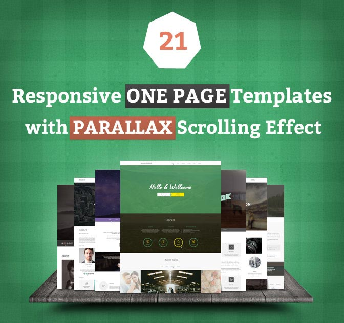 Featured Sponsor: 21 Premium, Responsive, One-Page HTML5 Templates