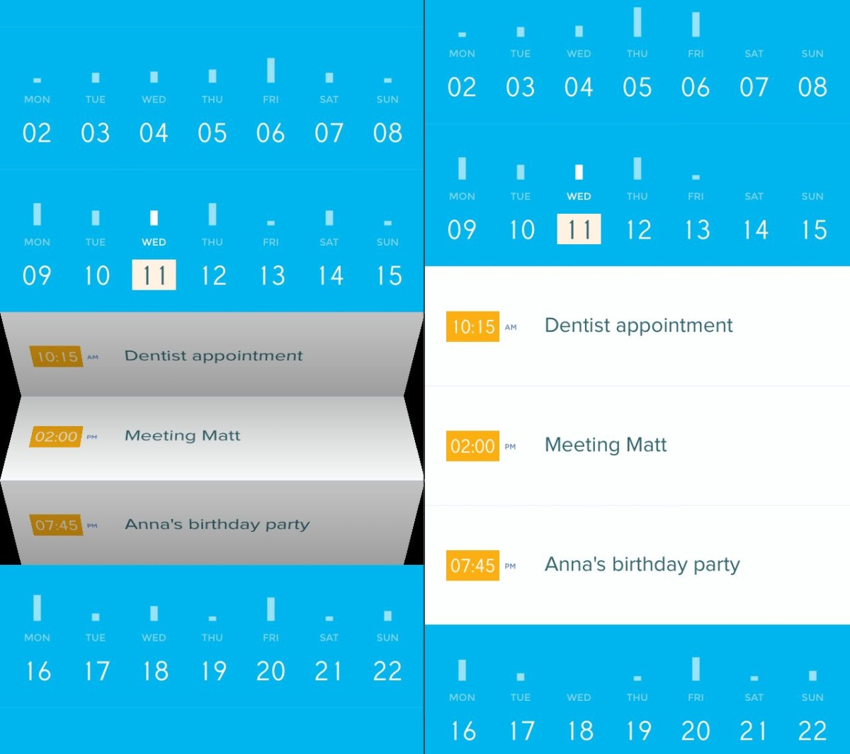 Peek Calendar for iPhone