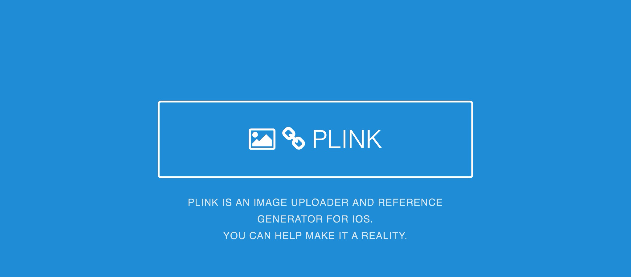 Plink — An iOS Image Solution for Bloggers