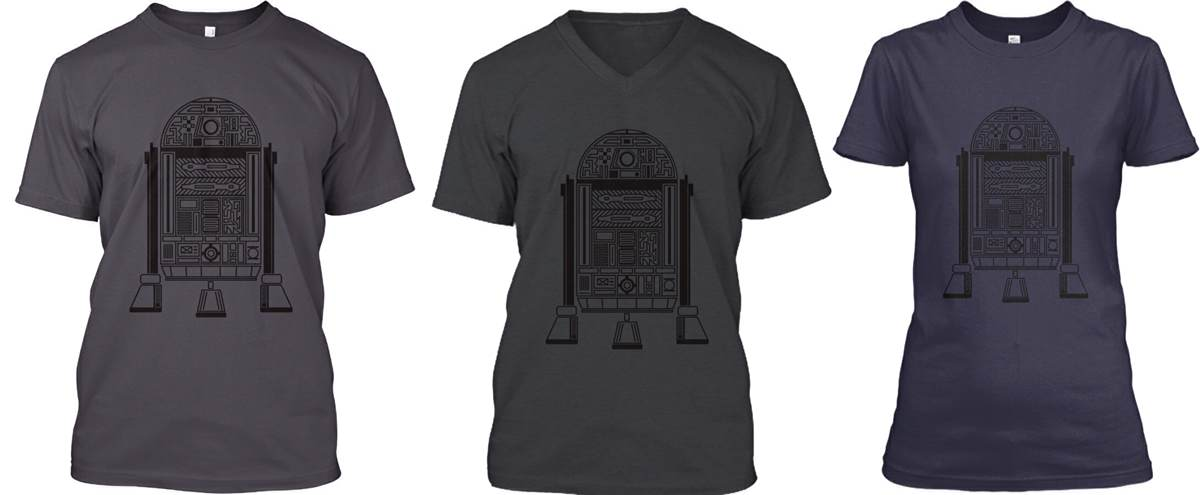 R2-D2 Thick Lines T-Shirt