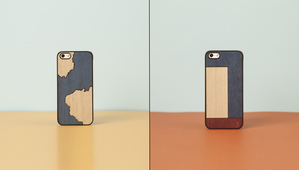Wooden iPhone Inlay Cases by Wood'd