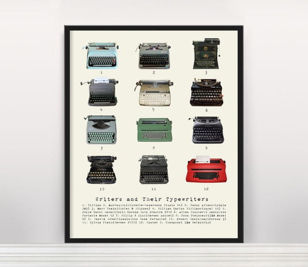 'Writers and their Typewriters' Poster